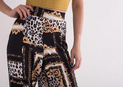 Široke šarene pantalone