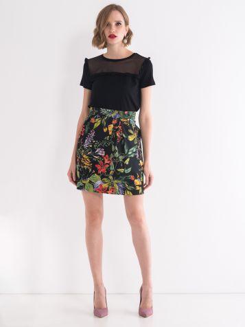 Suknja floralnog dezena