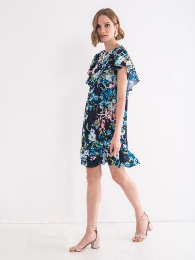 Romantična cvetna haljina