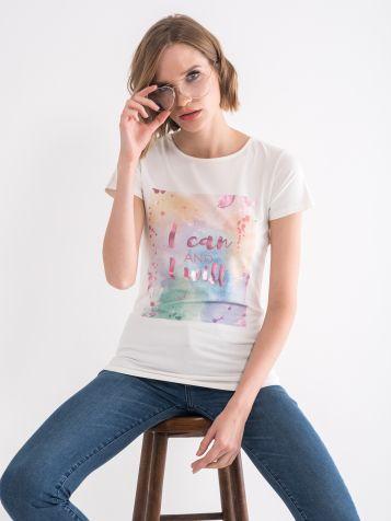 Majica sa svjetlucavom štampom