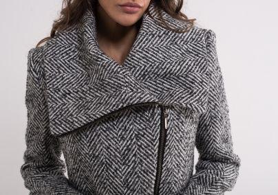Ženski svetlo sivi kaput