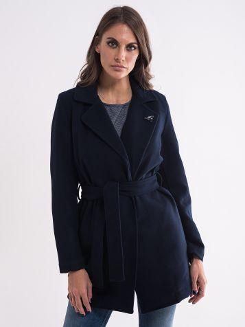 Ženski teget kaput