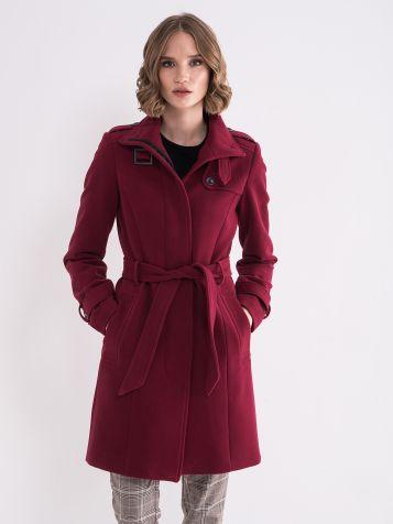 Ženski bordo kaput