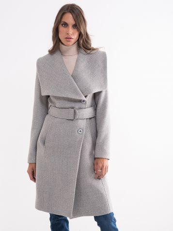 Ženski sivi kaput