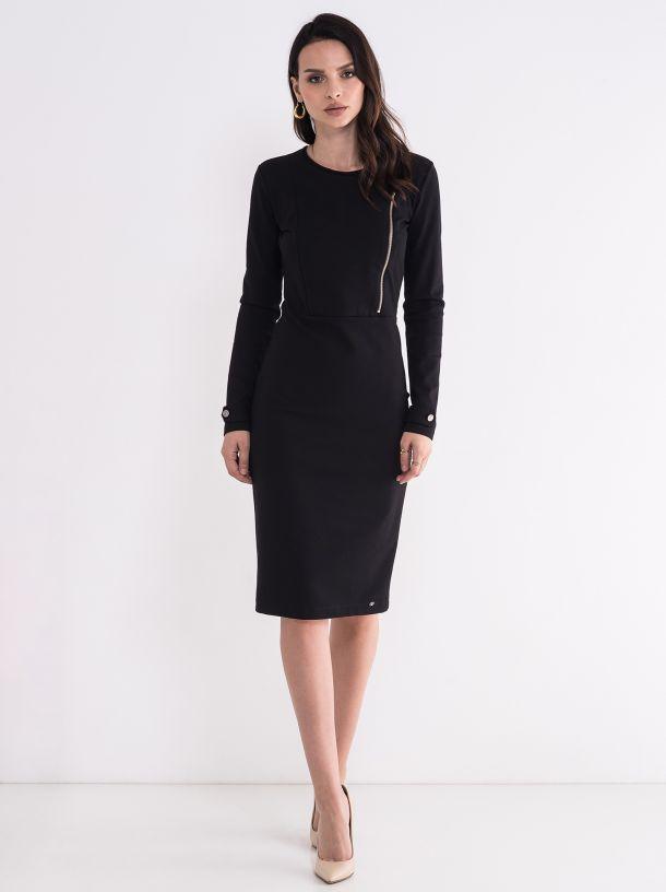 Ženska crna haljina