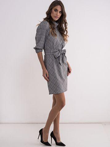 Karirana ženska haljina