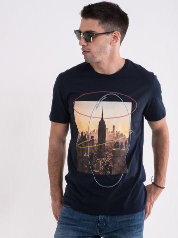Muška majica sa gradom