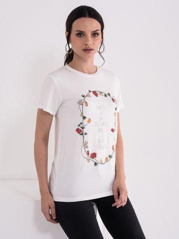 Ženska majica sa cvećem