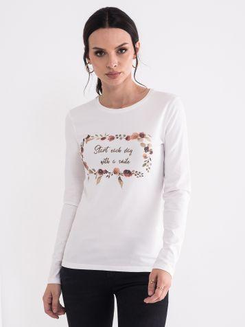 Ženska majica u beloj boji