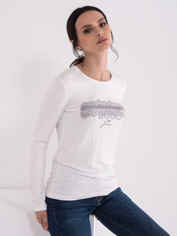 Majica sa srebrnim detaljem