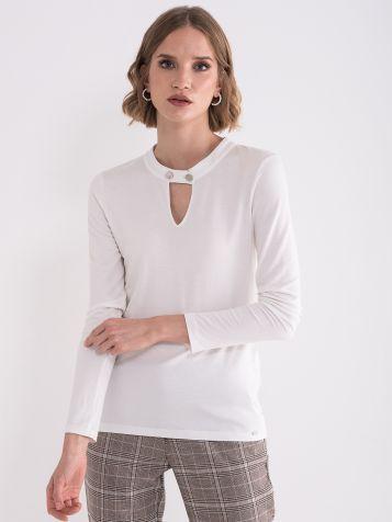Bijela elegantna bluza