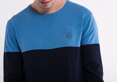 Pamučni džemper sa dve boje