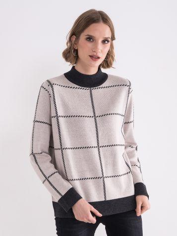 Ženski bež džemper