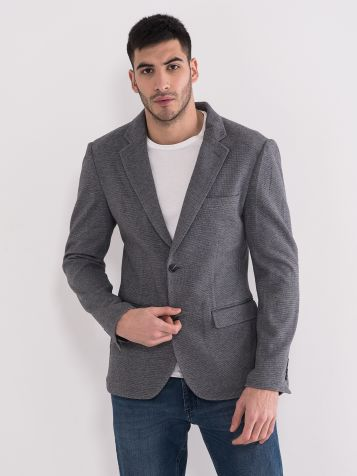 Slim fit sako sivi