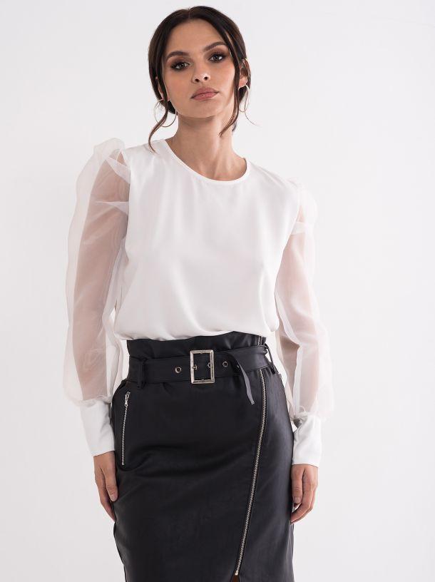 Bluza sa providnim puf rukavima