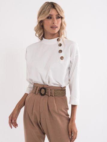 Bluza z lesenimi gumbki