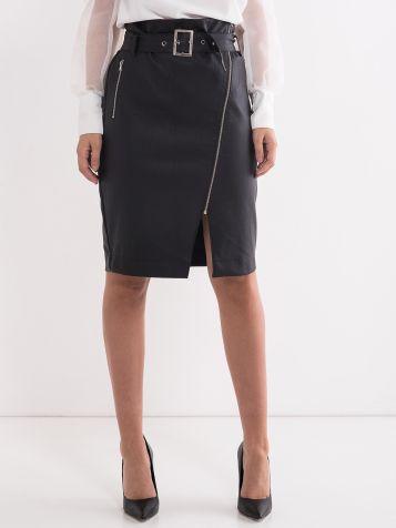 Trendi suknja od eko kože