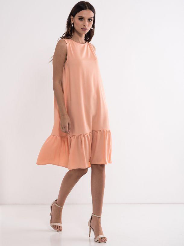 Haljina u boji breskve
