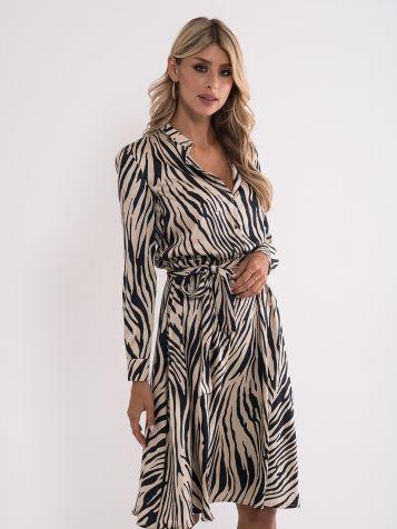 Obleka z zebrastim vzorcem