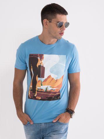 Majica nebo-modre barve