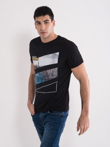 Moška majica črne barve