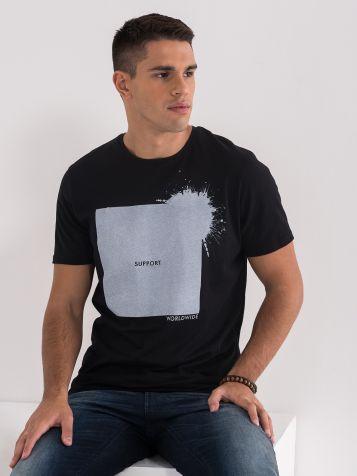 Majica s potiskom in napisom