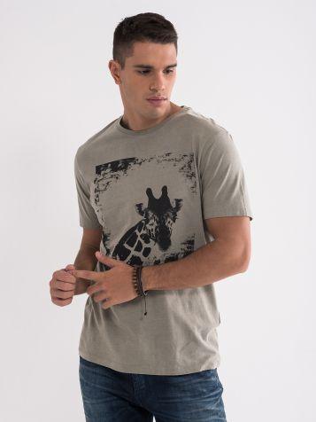 Majica z vzorcem žirafe
