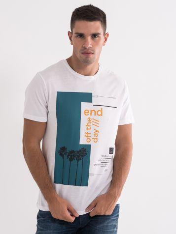 Bijela majica sa printom