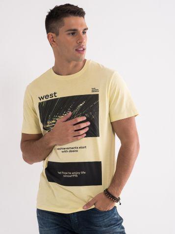 Bombažna majica s potiskom