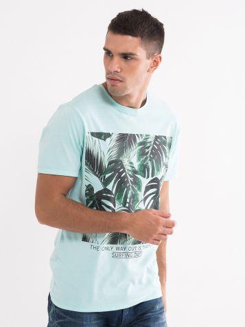 Muška majica tirkiz