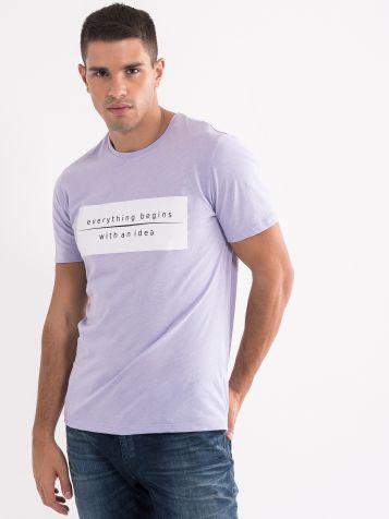 Muška majica u lila boji