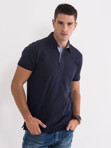 Polo majica temnomodra