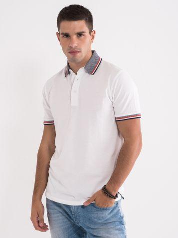 Polo majica sa dezeniranom kragnom