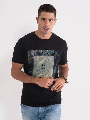 Bombažna majica črne barve