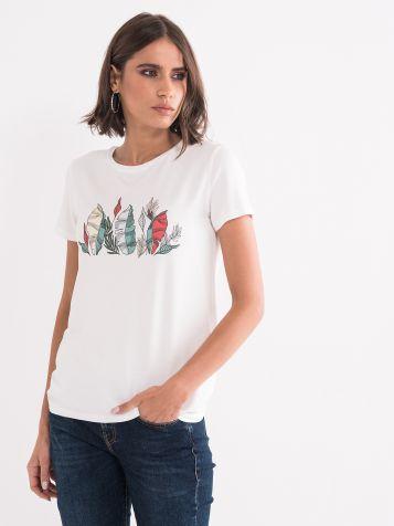 Majica sa diskrentnim printom