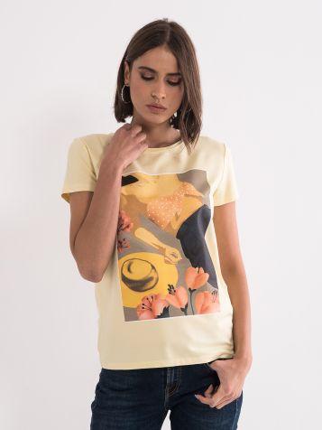 Rumena ženska majica