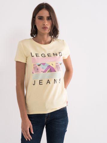 Legend jeans majica rumena