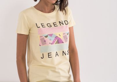 Legend jeans majica žuta
