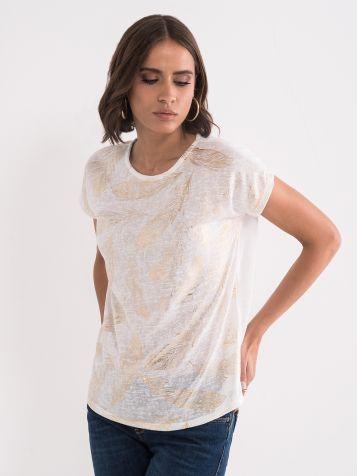 Majica sa zlatnim printom