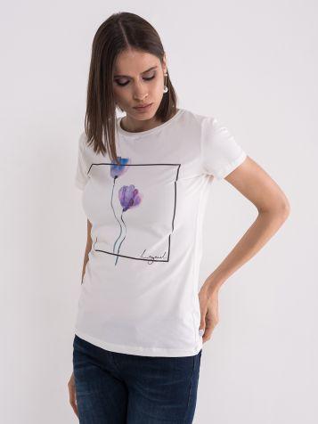 Majica sa nežnim printom