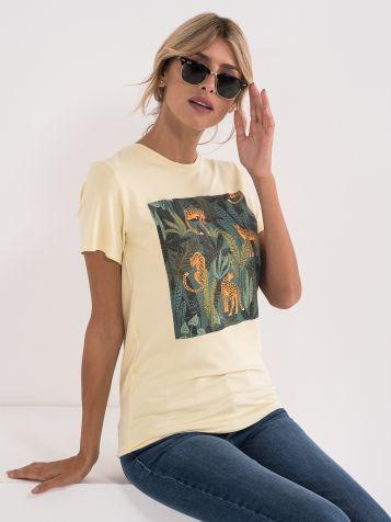 Ženska majica rumene barve
