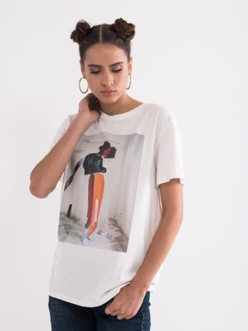 Pamučna majica bijele boje