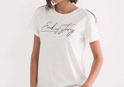 Majica sa detaljima na ramenima