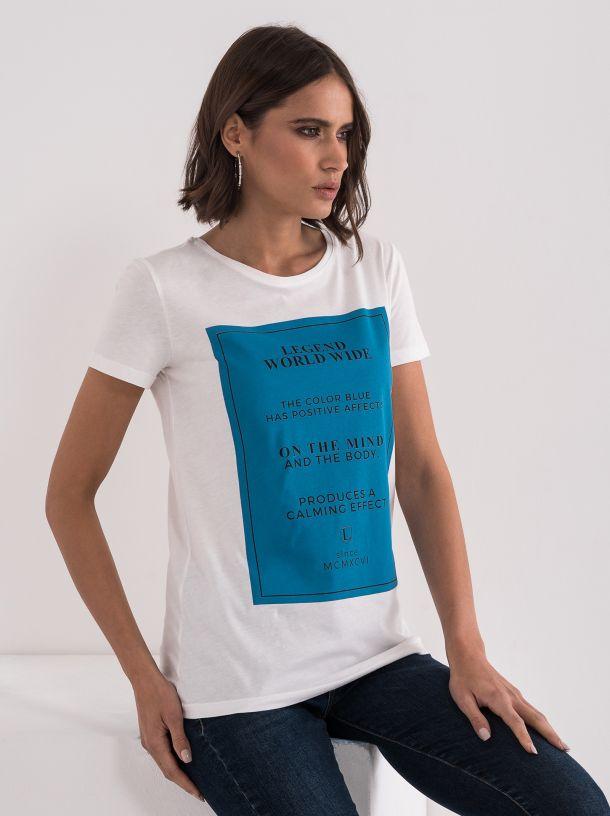 Majica sa plavom štampom