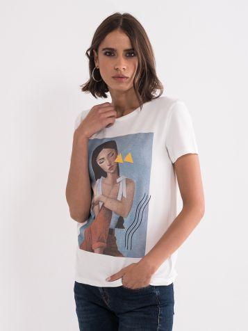 Majica sa djevojkom