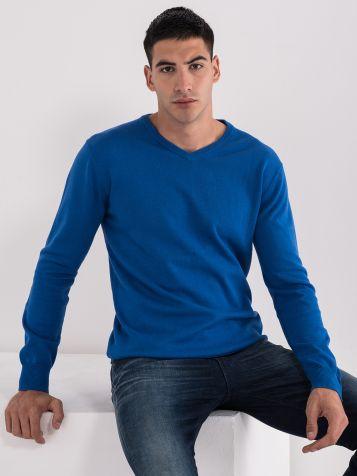 Osnovna moška jopica z V-izrezom