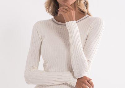 Džemper sa rebrastim tkanjem