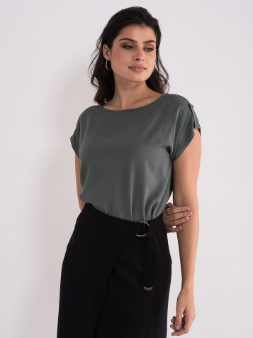 Jednostavna zelena bluza