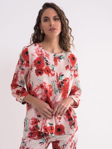 Bluza sa cvetnim dezenom