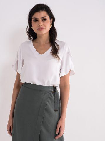 Lepršava bela bluza